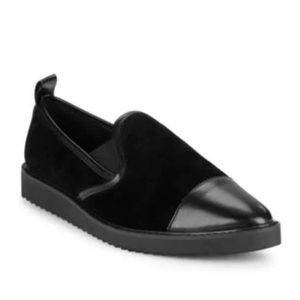 Karl Lagerfeld Paris Cler8 Leather & Suede Loafers